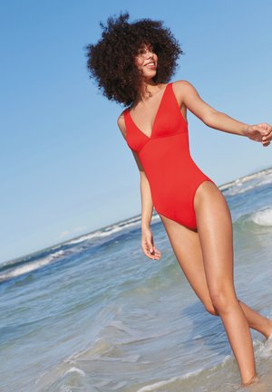PLUNGE SHAPE - Swimsuit - red