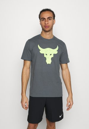 ROCK BRAHMA BULL - T-shirt med print - pitch gray
