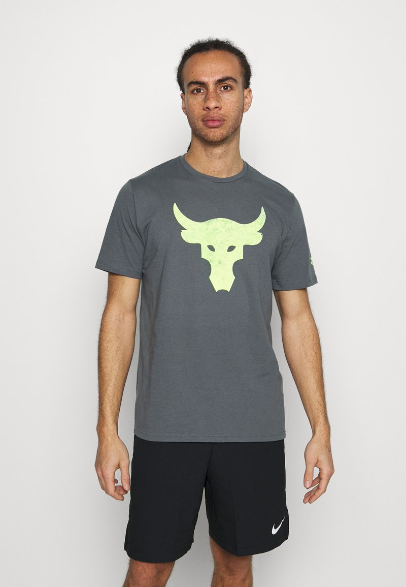 Under Armour - ROCK BRAHMA BULL - T-shirt con stampa - pitch gray