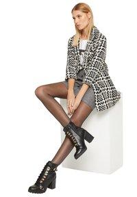 comma - Classic coat - black big houndstooth - 4