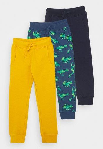 3 PACK - Spodnie treningowe - orche/blue/dark blue