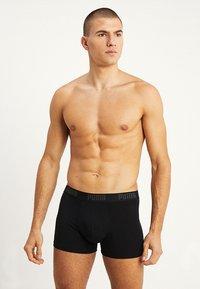 Puma - STRIPE BOXER 2 PACK - Panties - black - 4
