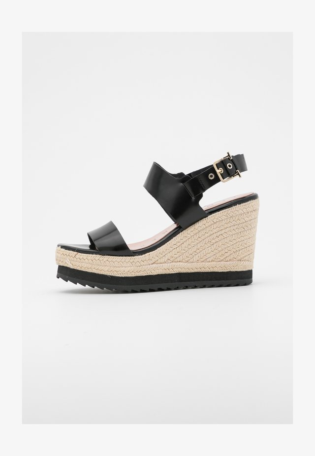 ARCHEI - Platform sandals - black