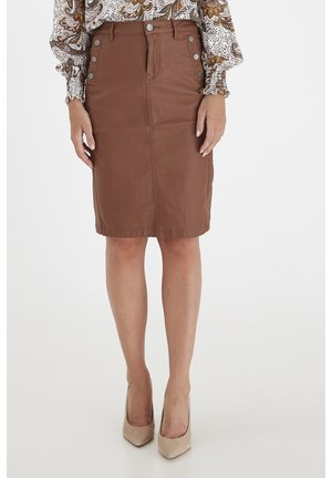 FRNOTALIN - A-line skirt - dark camel
