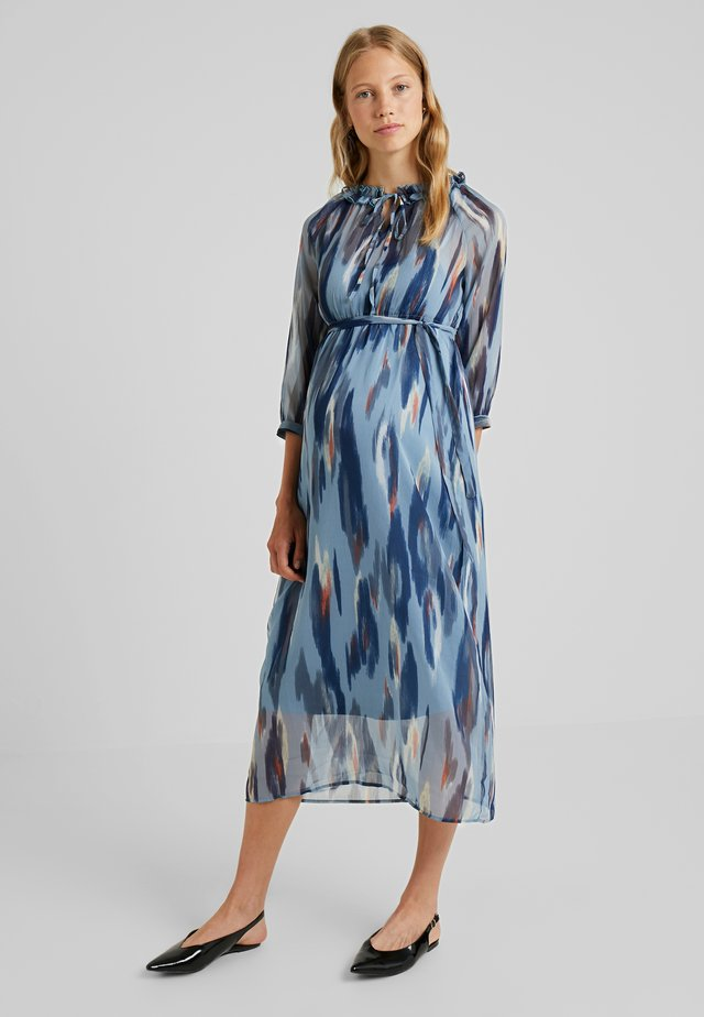 CAROLA 3/4 DRESS - Maxi dress - aegean blue