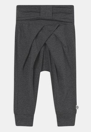 COZY ME BOW  - Trousers - dark grey melange