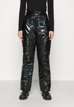 LOGO HOLOGRAPHIC PANTS - Trousers - black