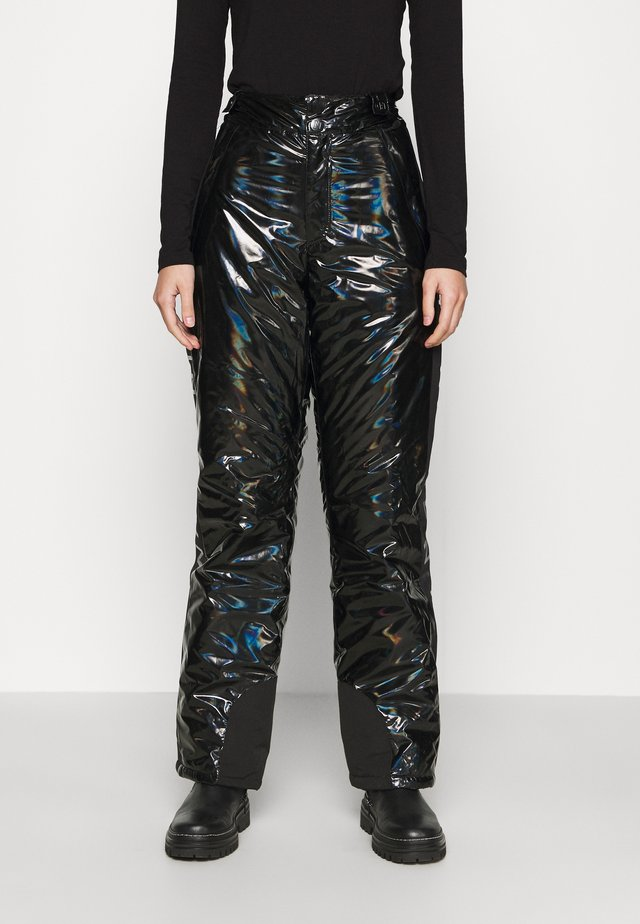 LOGO HOLOGRAPHIC PANTS - Snow pants - black