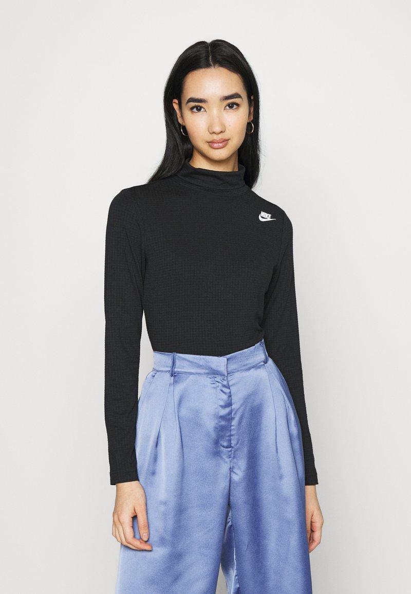 Nike Sportswear - MOCK - T-shirt à manches longues - black/white