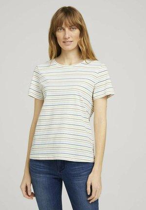 Print T-shirt - multicolor horizontal stripe