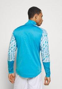 Puma - OLYMPIQUE MARSAILLE STADIUM JACKET - Club wear - bleu azur/puma white - 2