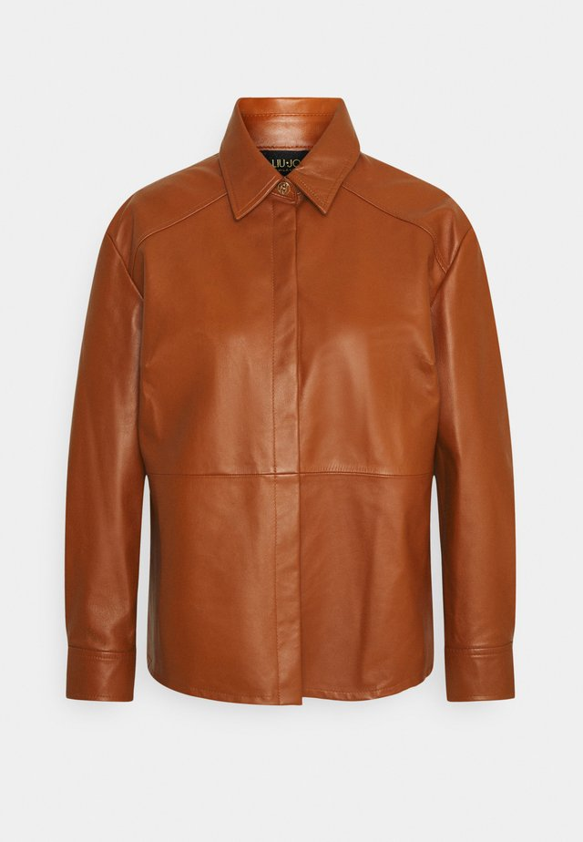 GIACCA CAMICIA - Leather jacket - cuir