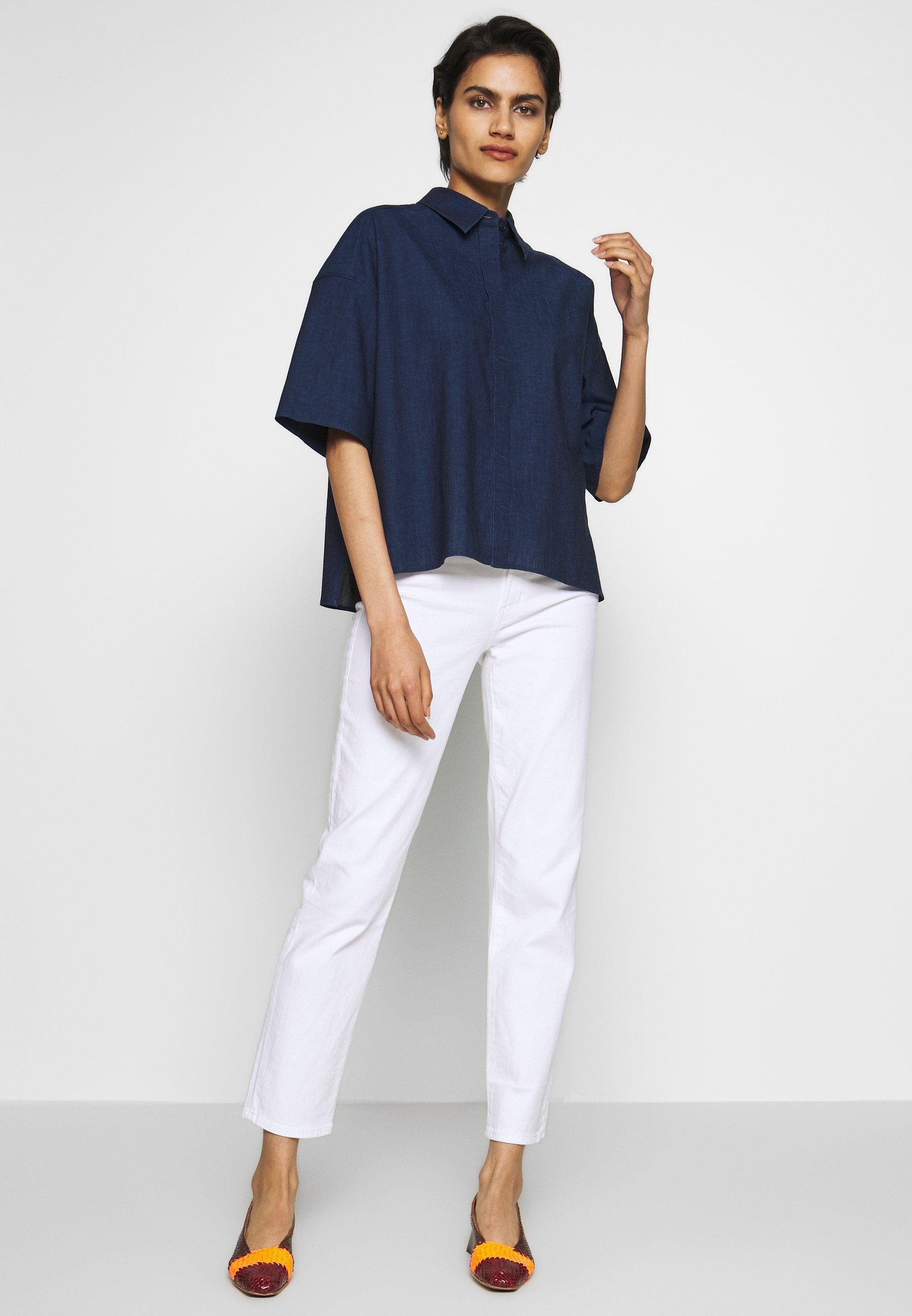 J Brand ADELE RISE - Jeans straight leg - white