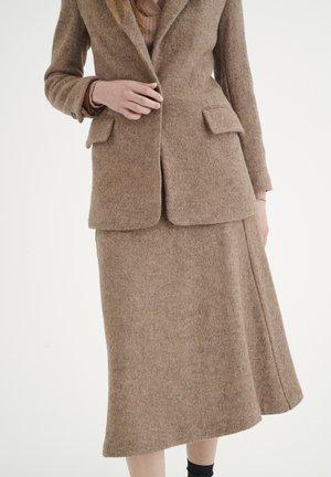 A-line skirt - brown melange