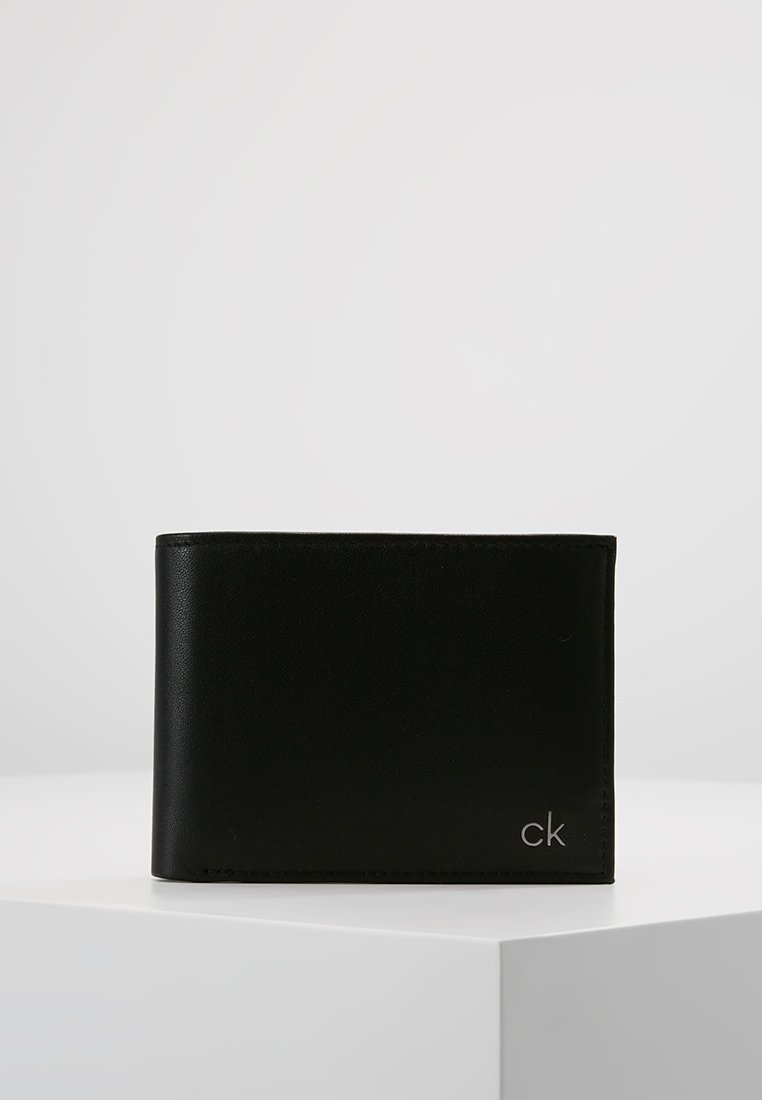 Calvin Klein - SMOOTH COIN - Portefeuille - black