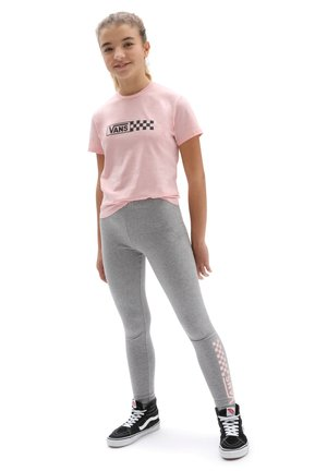 GR CHALKBOARD II LEGGING GIRLS - Legging - grey heather/powder pink