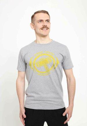 MARVEL UNISEX THOR POWER - T-shirt med print - melange grey