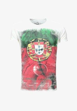 TEAM PORTUGAL ROUND - Print T-shirt - white