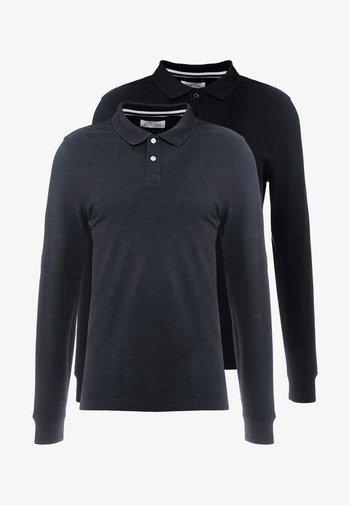 2 PACK - Polo shirt - mottled grey/black