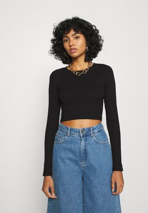 BARB - Long sleeved top - black dark