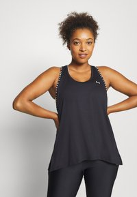 Under Armour - KNOCKOUT TANK - Sports shirt - black - 0