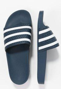 adidas Originals - ADILETTE - Pool slides - blue/white - 1