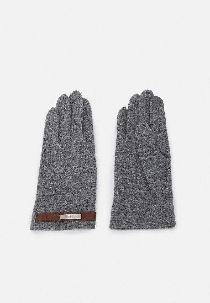 Lauren Ralph Lauren - BLEND BELTED GLOVE - Gloves - grey heather