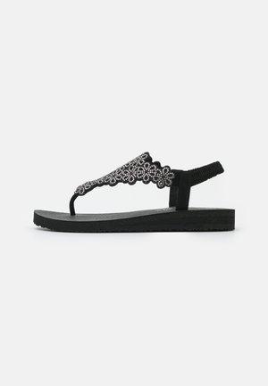 MEDITATION - Flip Flops - black/silver