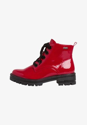 STIEFELETTE - Platform ankle boots - red patent