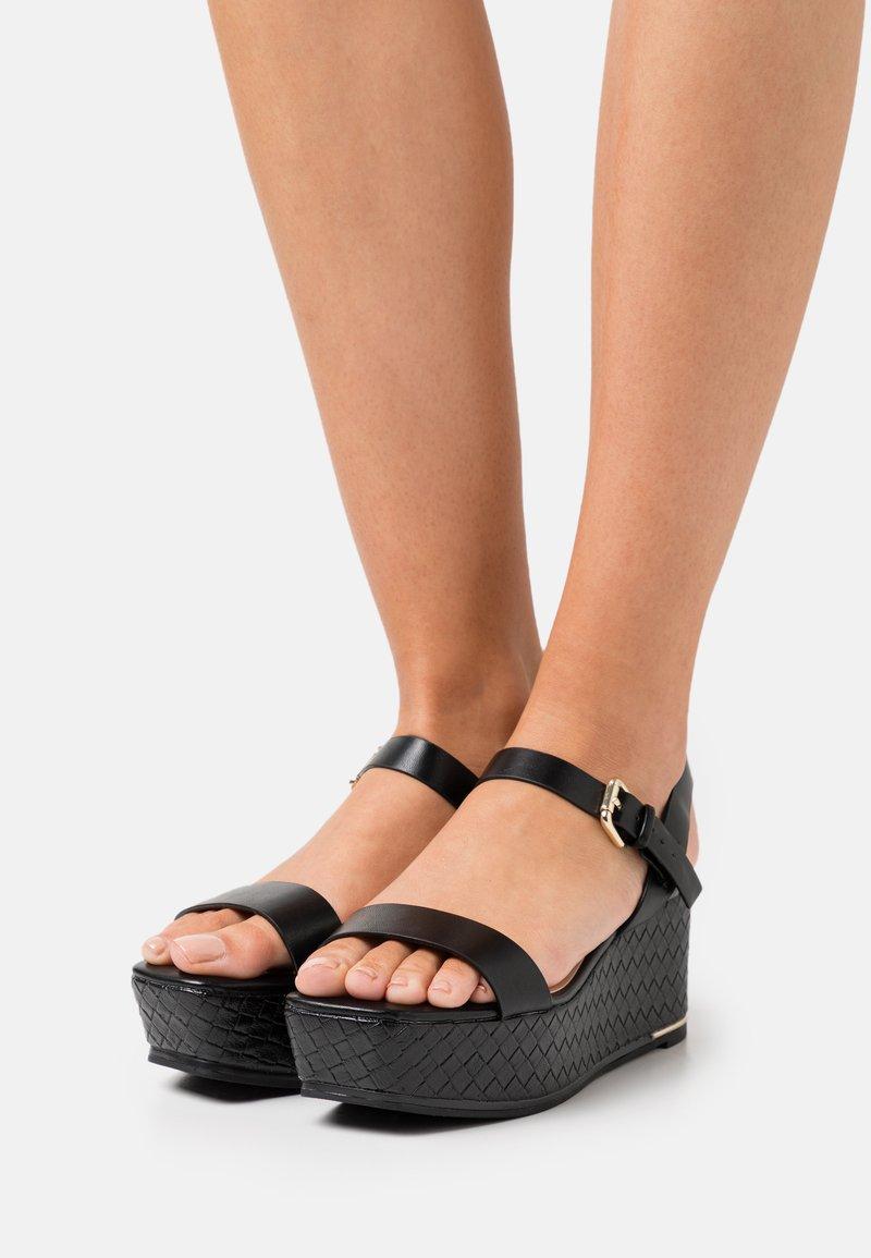 ALDO - ELOINIEL - Platform sandals - black