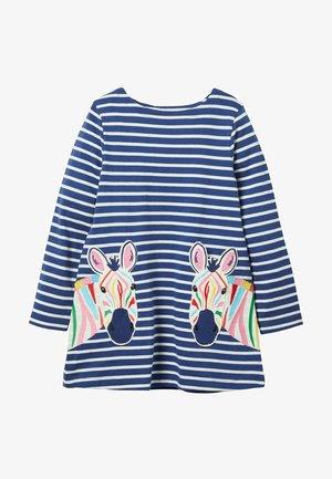 MIT APPLIZIERTER TASCHE - Long sleeved top - segelblau/naturweiß, zebra