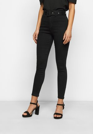 SELF FABRIC BELTED VICE - Jeans Skinny Fit - black