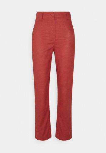 STRAIGHT LEG HIGH WAIST - Kalhoty - red