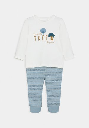 NBMLEONARDO SET - Tracksuit bottoms - snow white