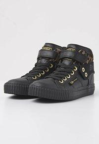 British Knights - ROCO - Sneakers hoog - black/rust leopard/gold/black - 2