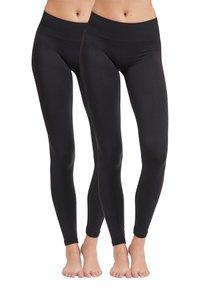 Vila - 2PACK - Leggings - Trousers - black - 0
