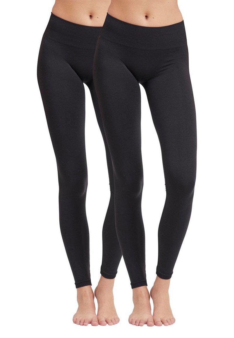 Vila - 2PACK - Leggings - Trousers - black
