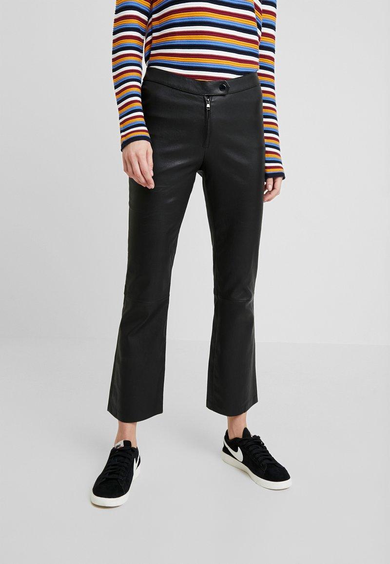 Ibana - Kožené kalhoty - black