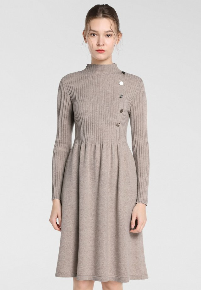 Jersey dress - taupe