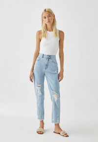 PULL&BEAR - Straight leg jeans - light blue - 0