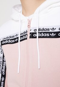 adidas Originals - TAPE TRACK HOODIE - Sweatjacke - white/pink spirit - 6