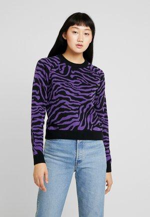 LADIES TIGER SWEATER - Jumper - black/purple