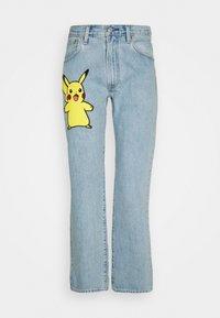 LEVI'S® X POKÉMON 551Z™ AUTHENTIC STRAIGHT UNISEX - Straight leg jeans - light indigo - worn in