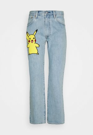 LEVI'S® X POKÉMON 551Z™ AUTHENTIC STRAIGHT UNISEX - Straight leg jeans - light indigo - worn in