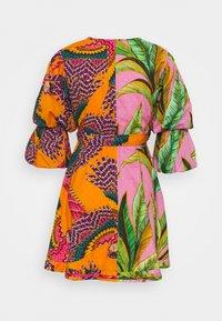 Farm Rio - MIXED  MINI WRAP DRESS - Vestito estivo - pink - 1