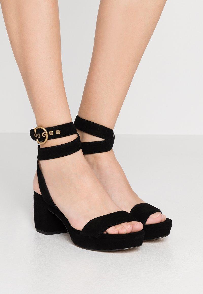 Coach - SERENA - Platform sandals - black