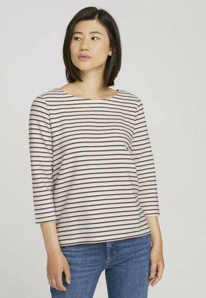 Sweatshirt - offwhite ottoman stripe
