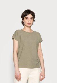 Opus - SELUM - Basic T-shirt - soft moss - 0