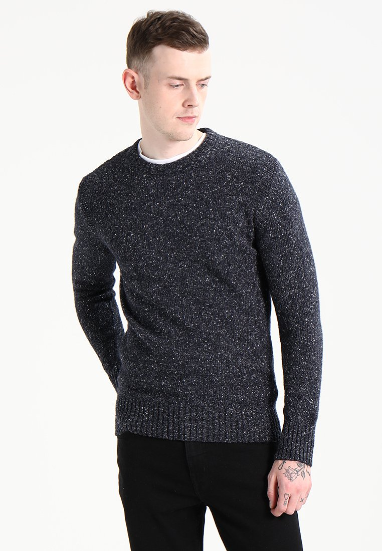 Superdry - SCARFELL CREW - Jumper - mottled anthracite