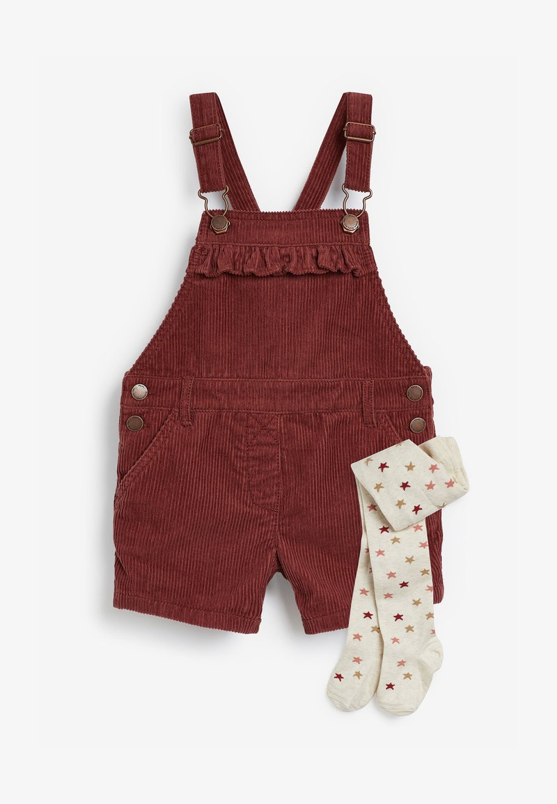 Next - DUNGAREES AND TIGHTS SET - Tuinbroek - red